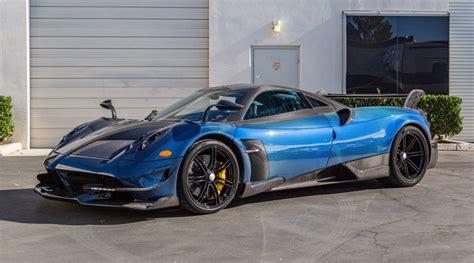 blue pagani blue carbon fiber pagani huayra bc for sale