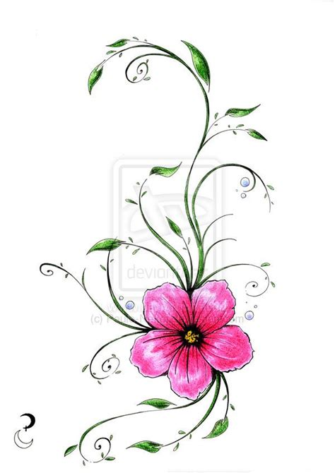 exotic flower tattoos tropical flower tatoo by paulo nekoi on deviantart
