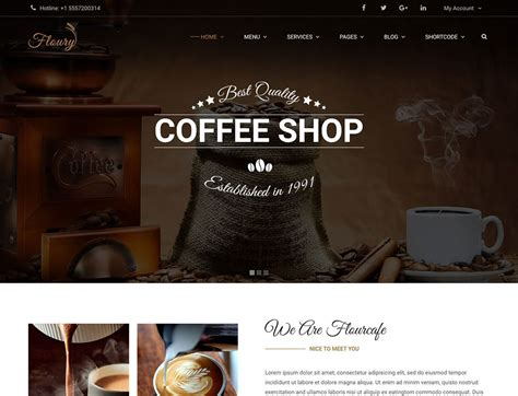 8 Best Coffee Shop Wordpress Themes 2018 Free Coffee Website Templates