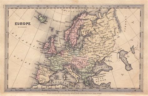 map of whole europe antique maps of the whole of europe