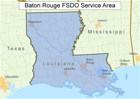 louisiana map baton baton fsdo