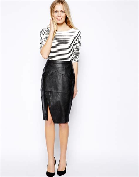 leather pencil skirt 2013 2014 2015 fashion trends 2016 2017