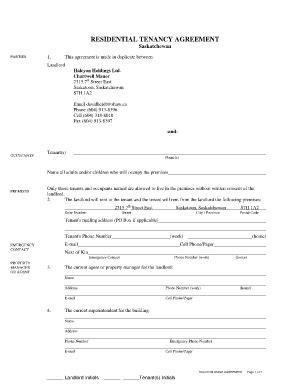 saskatchewan rental agreement template rental agreement saskatchewan fill printable