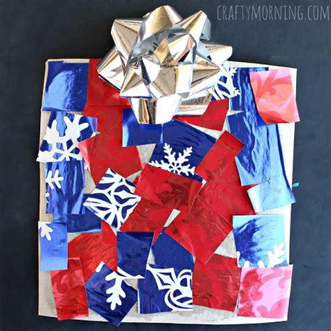 cardboard christmas present craft for kids crafty morning