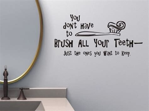 cute bathroom sayings creative and fun bathroom quote wall stickers