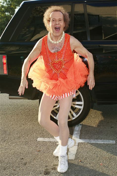 richard simmons s day richard simmons pictures richard simmons arrives in a tutu zimbio