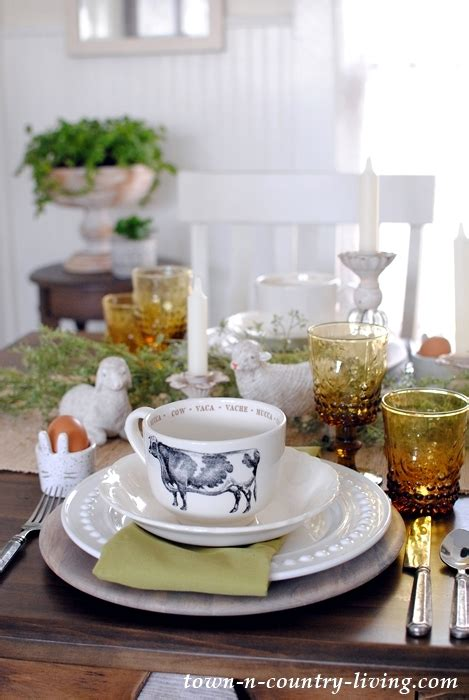 easter brunch table setting cozy easter brunch for two town country living