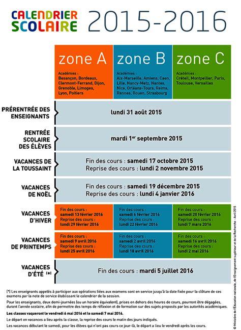 Dates Vacances Scolaires Calendrier Scolaire 2015 2016 224 Imprimer Et T 233 L 233 Charger