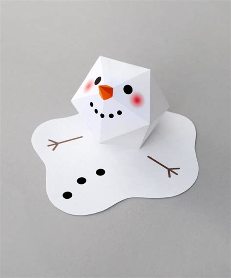 How To Make A Snowman With Paper - melting paper snowman snowman craft and origami