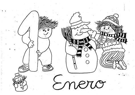 enero 2012 colorear y pintar dibujos dibujos para pintar del mes de enero colorear im 225 genes