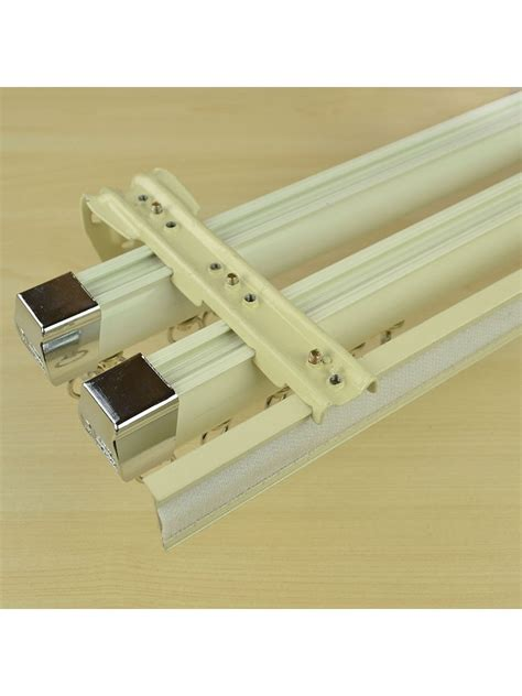 triple curtain rail chr7524 ceiling wall mount triple curtain track set with