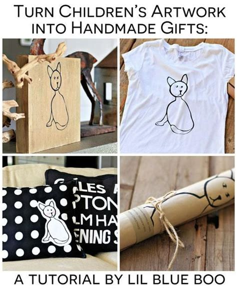 Meaningful Handmade Gifts - handmade gift ideas turn children s artwork into