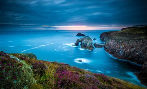 cape lands  cornwall england wallpaper nature