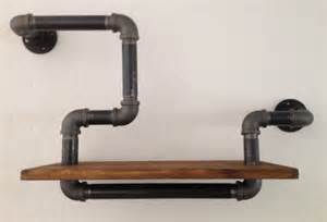 vintage industrial gas pipe shelf wall mounted b by breuhaus