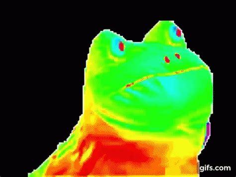 Rainbow Background Meme - frog meme gif frog meme rainbow discover share gifs