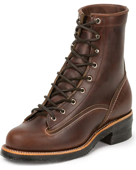 lace to toe boots chippewa s 1935 8 quot original lace to toe logger work