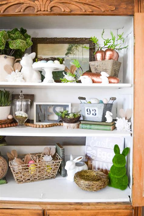 spring home decorations spring home decor adding spring to the new hutch my