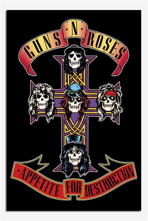 Guns N Roses 37 guns n roses appetite for poster new maxi