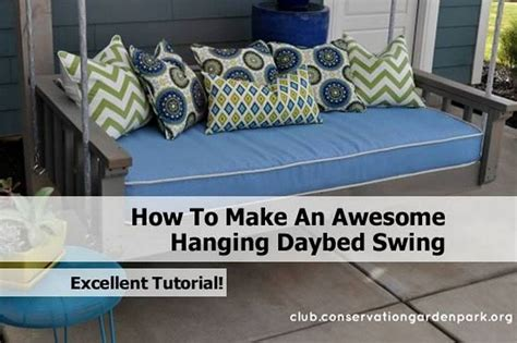 how to build a daybed swing how to make an awesome hanging daybed swing