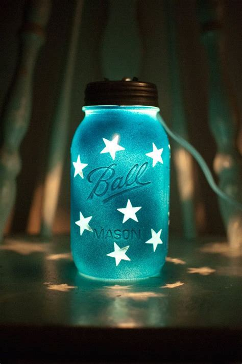 cool night lights for kids these hand painted mason jar night lights are great for