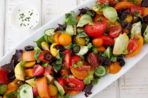 Heirloom tomato salad recipe dishmaps