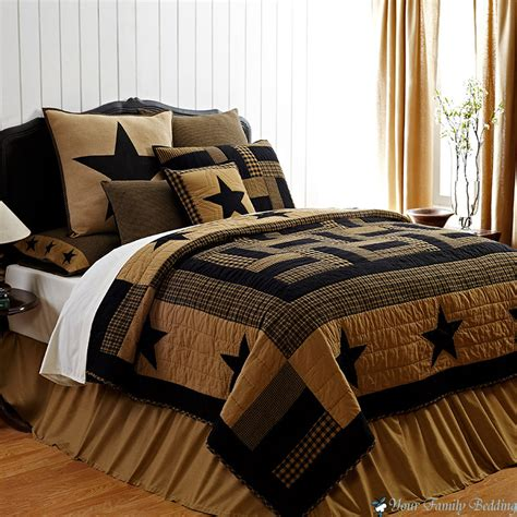 Country Bed Comforter Sets Brown Rustic Western Country Cal King Quilt Bedding Set King Cotton Quilt