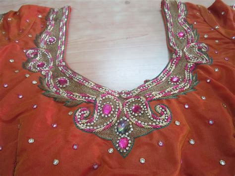 embroidery design in blouse designer blouses new embroidery designs on blouses