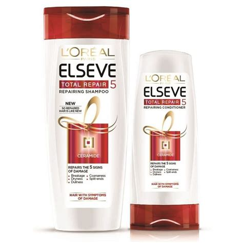 Loreal Total Repair 5 Repairing Conditioner 165ml L Or 201 Al Elseve Total Repair 5 Shoo 650ml Conditioner