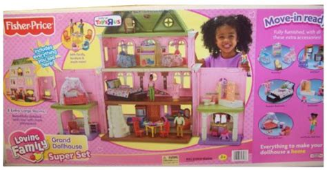 fisher price loving family grand doll house fisherprice 171 loving family dollhouse com