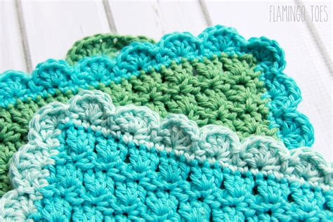 image edge pattern easy crochet dish cloth pattern