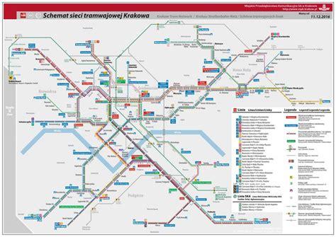 transport for map krakow tram and transport maps krakowcard