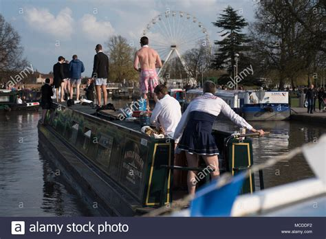 stag fancy dress stock photos stag fancy dress stock - Party Boat Hire Stratford Upon Avon
