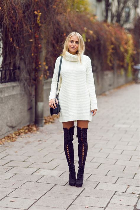 how to wear lace up boots the knee boots trend autumn winter 2014 just the