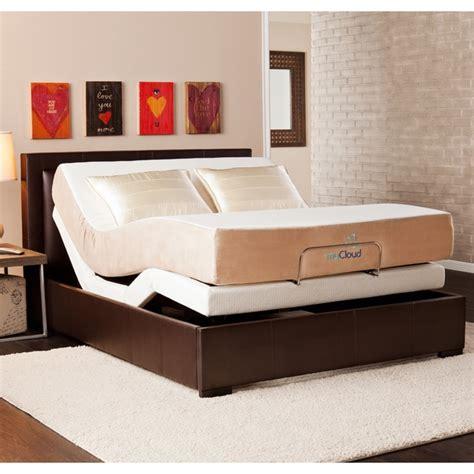 shop mycloud adjustable bed queen size    gel
