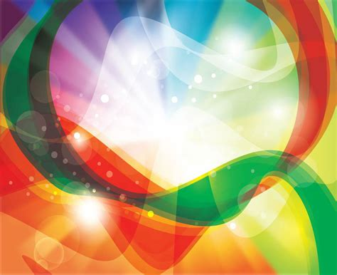 light beautiful vector free background created from many rainbow swirls background vector graphics