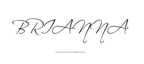 brianna tattoo designs name designs