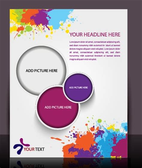 design online flyer free stylish brochure flyer design vector graphic 03 vector