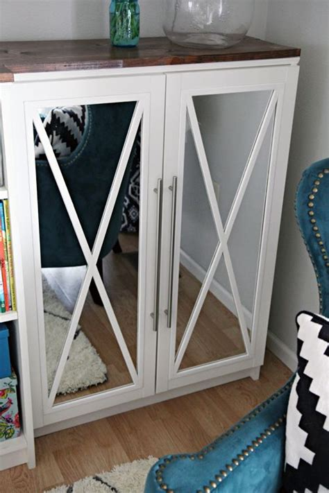 add glass doors to bookcase diy tutorial how to add mirror doors to ikea billy