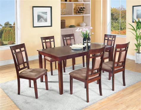 cappuccino 7 dining set dining room furniture sets
