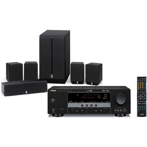 yamaha yht 280bl 5 1 channel home theater system yht 280bl b h