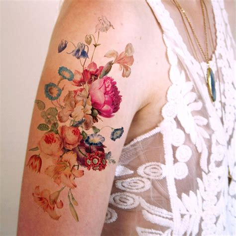 floral temporary tattoos beautiful large vintage floral temporary