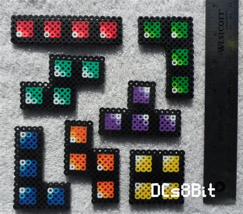 Tetrius Magnet Set by Tetris Perler Magnet Set