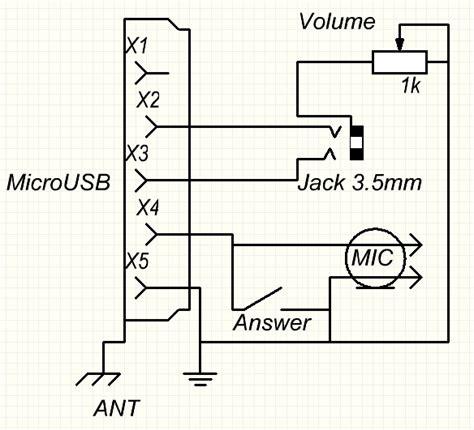 microusb     jack headset pinout diagram