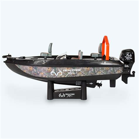 rc boat fishing boat the fish catching rc boat hammacher schlemmer