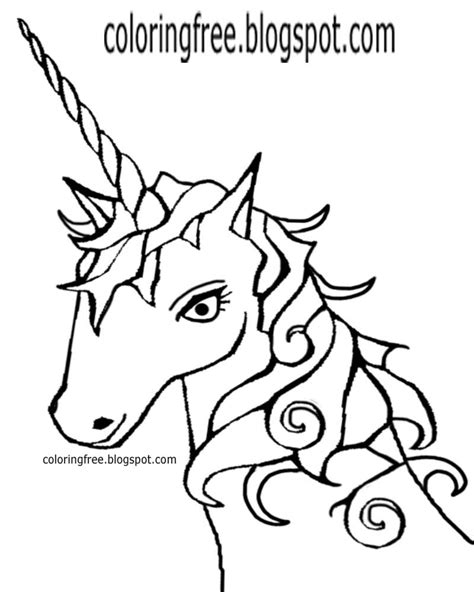 black and white coloring pages of unicorns printable unicorn drawing mythical coloring book pictures