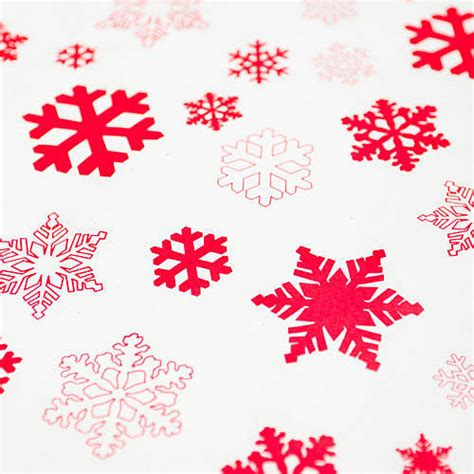 snowflakes white wrapping paper set by
