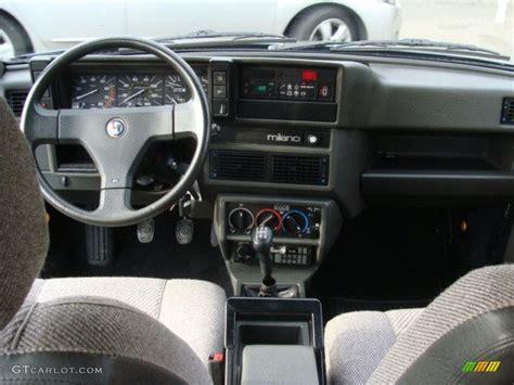 1987 Alfa Romeo Milano Silver Grey Dashboard Photo