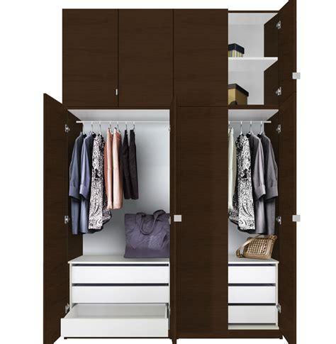 Closet Packages Alta Wardrobe Closet Package 6 Drawer Wardrobe