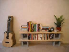 cinder blocks bookshelves and cinder block shelves on