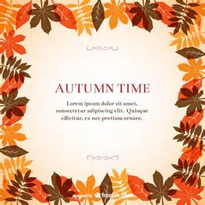Autumn Templates Free by Autumn Frame Template Vector Free